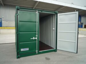 10ft New Container in Green Internal view UK