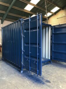 10ft Used Container Repainted in Blue for sale