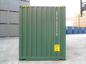 20ft New High Cube Container for sale UK in Green FRONT