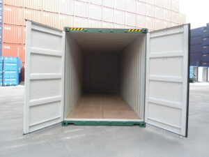 20ft New High Cube Container for sale UK in Green OPENING