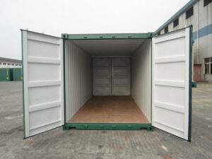40ft high cube Tunnel Container for sale UK in Green