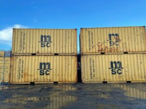 20ft Used Containers for sale Harvest Gold Stack in Aberdeen Scotland UK