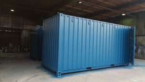20ft Used shipping container for sale rePainted in Blue