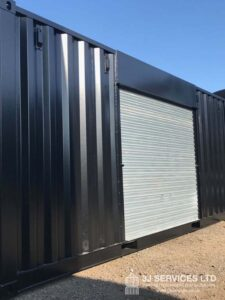Modified Container with Roller Shutter side door fitted uk for sale Aberdeen Scotland