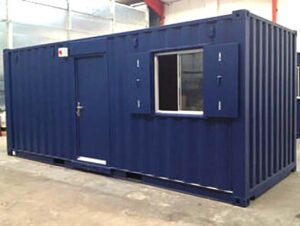 20ft shipping container canteen conversion