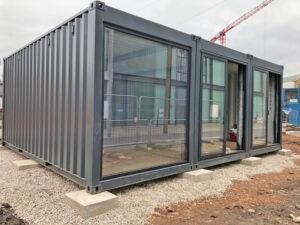 aluminium glazed doors for modified container