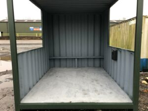 converted container smoking shelters for sale
