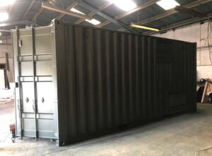 new shipping container change of colour painting services uk