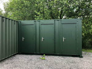single personnel doors for shipping container storage