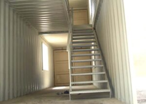 stiarcase for shipping container modification uk